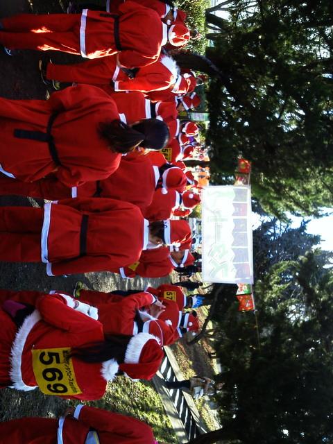 20131222嵐山でサンタクロースmarat<br />  hon2013