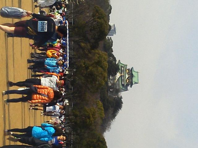 20150125大阪ハーフマラソンε=<br />  ┏( ・_<br />  ・)┛
